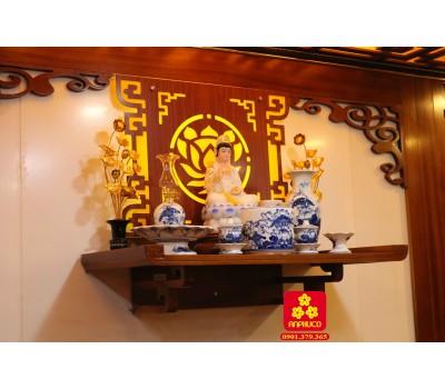 Bàn thờ Phật bằng gỗ Căm xe cao cấp