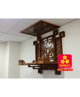 Bàn thờ Phật vách Sen kích thước 81