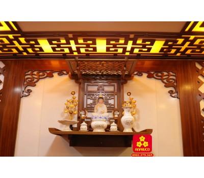 Trang thờ Phật có mái