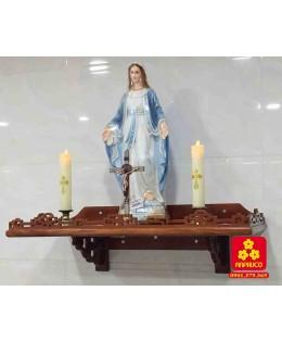 Bàn thờ treo tường bằng gỗ Hương