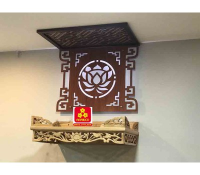 Bàn thờ treo tường gổ sồi(M-MT1S.61.42.001)