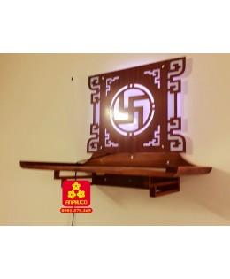 Bàn thờ treo tường gỗ Sồi hiện đại 81