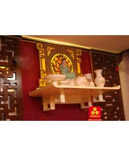 Bàn thờ Phật màu trắng