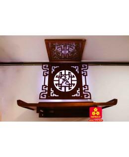 Mẫu bàn thờ đẹp gỗ Sồi